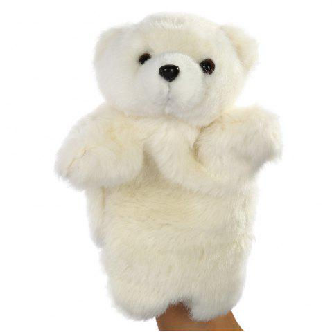 Buy Animal Fluffy Hand Puppet Soft Toy Children Present - White