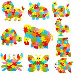 Style de Alphabet des animaux en bois Puzzle Game Toy intelligente - 4pcs / set - Multicolore