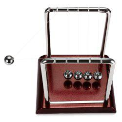 1.5cm Metal Newton Cradle Balance Ball Physical Pendulum Novelty Desktop Toy - COLORMIX