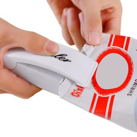 Unique Mini Handy Heat Instant Sealer Manual Closer for Kitchen Food Storage Plastic Bags (White)