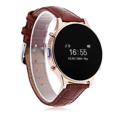 Chic MT360 Bluetooth 4.0 Smart Watch - BROWN  Mobile