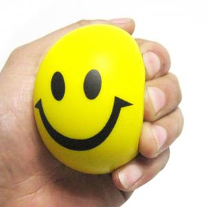 6.3cm Novelty Printing Smile Face Squeeze Ball Stress Release Toy for Kid -