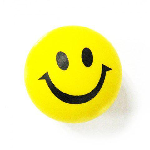 Unique 6.3cm Novelty Printing Smile Face Squeeze Ball Stress Release Toy for Kid