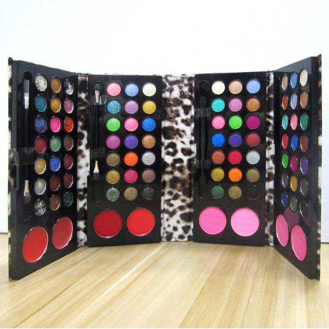 New RC125B 84 Eyeshadow 4 Blusher 2 Lip Gloss 2 Pressed Powder Make-Up Kit Cosmetic Set Leather Bag