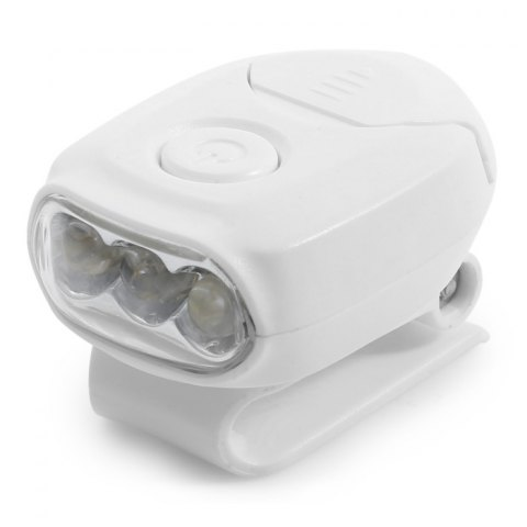 Hot Mini Clip Hat Light with 3 LED Lights - WHITE  Mobile