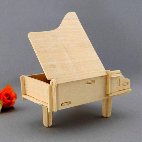 Outfit Wooden DIY Music Box Piano Shape Handcraft Educational Toy for Child - STYLE 2 WOOD Mobile