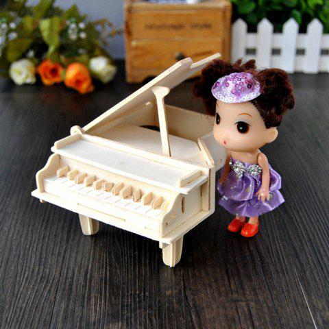 Outfits Wooden DIY Music Box Piano Shape Handcraft Educational Toy for Child - STYLE 2 WOOD Mobile