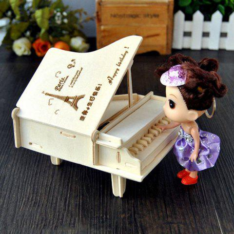 Latest Wooden DIY Music Box Piano Shape Handcraft Educational Toy for Child - STYLE 2 WOOD Mobile