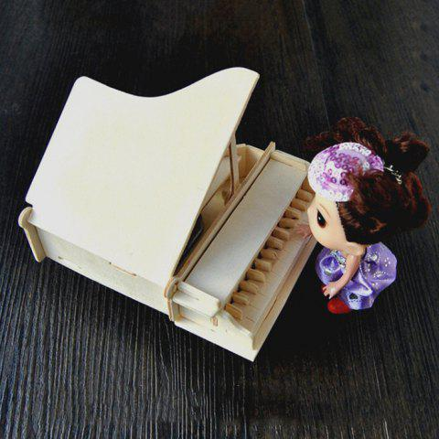 Trendy Wooden DIY Music Box Piano Shape Handcraft Educational Toy for Child - STYLE 2 WOOD Mobile