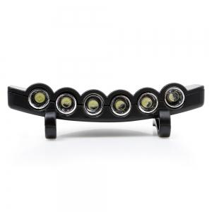 4 Modes 6 LEDs Clip Hat Light Head Lamp - BLACK