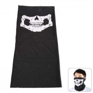 Multi-use Polyester Riding Mask / Kerchief / Wirst Guard / Skull Washcloth - BLACK
