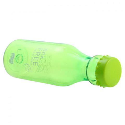 Affordable 550ml Portable Leak Proof Sports Water Bottle BPA Free with Lanyard - TRANSPARENT GREEN Mobile