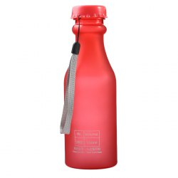 550ml Portable Leak Proof Sports Water Bottle BPA Free with Lanyard