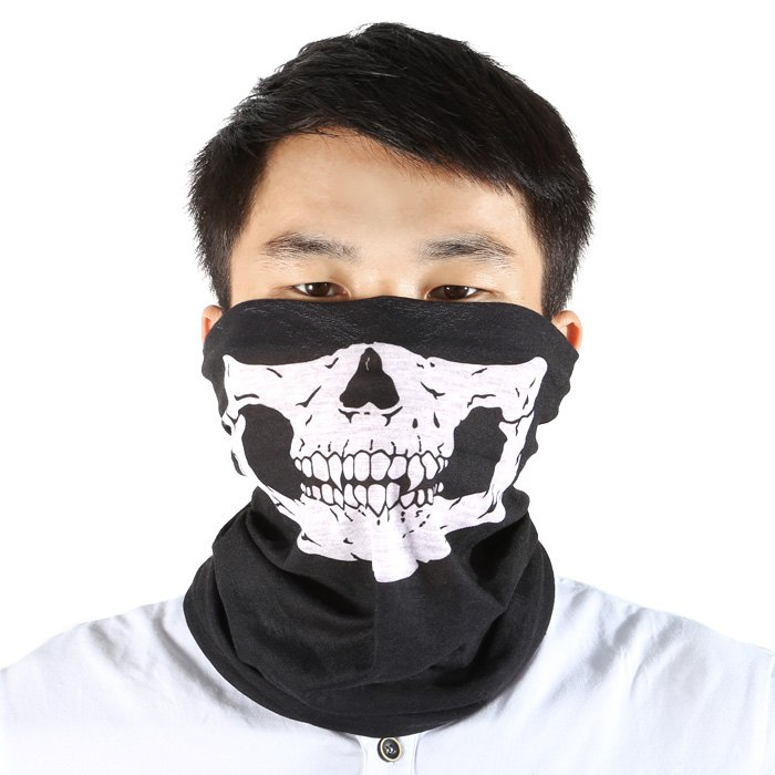 Multi-use Polyester Riding Mask / Kerchief / Wirst Guard / Skull WashclothHOME<br><br>Color: BLACK; Product weight: 0.0300 kg; Package weight: 0.1850 kg; Product Dimension: 49.00 x 24.00 x 0.10 cm / 19.29 x 9.45 x 0.04 inches; Package Dimension: 12.00 x 10.00 x 1.00 cm / 4.72 x 3.94 x 0.39 inches;