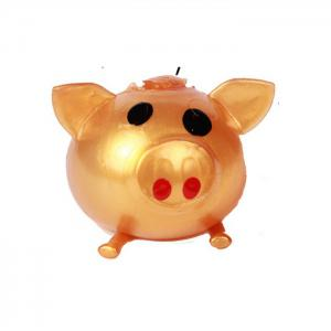 Novelty Elastic Squeeze Pig Pattern Stress Release Vent Relax Toy for Kid -