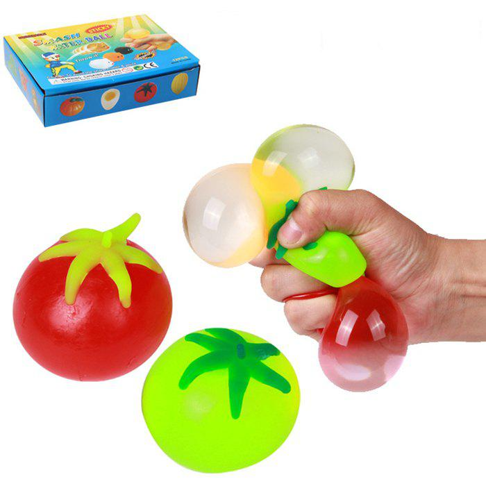 1pc Novelty Elastic Squeeze Tomato Stress Release Vent Relax Toy for KidHOME<br><br>Color: COLORMIX; Materials: Other; Theme: Other; Features: Creative Toy; Series: Entertainment;