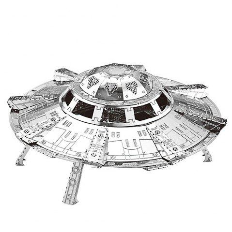 Shop ZOYO 3D Metal Spaceship Style Metallic Building Puzzle Educational Assembling Toy -   Mobile