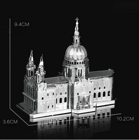 Fashion ZOYO 3D Metal Church Style Metallic Building Puzzle Educational Assembling Toy -   Mobile