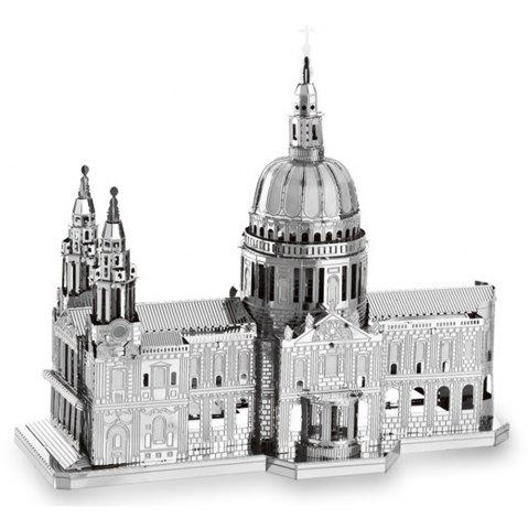 Hot ZOYO 3D Metal Church Style Metallic Building Puzzle Educational Assembling Toy -   Mobile