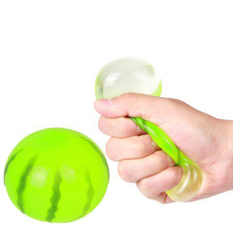 Buy Funny Elastic Squeeze Watermelon Shape Stress Release Vent Relax Toy Kid - Green