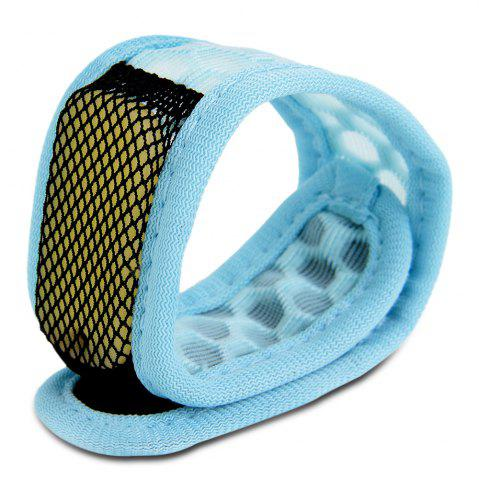 Replaceable Summer Mosquito Repellent Wristband Bleu clair