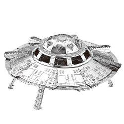 ZOYO 3D Metal Spaceship Style Metallic Building Puzzle Educational Assembling Toy -