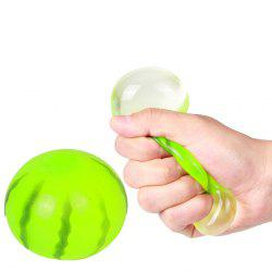 Funny Elastic Squeeze Watermelon Shape Stress Release Vent Relax Toy for Kid - GREEN
