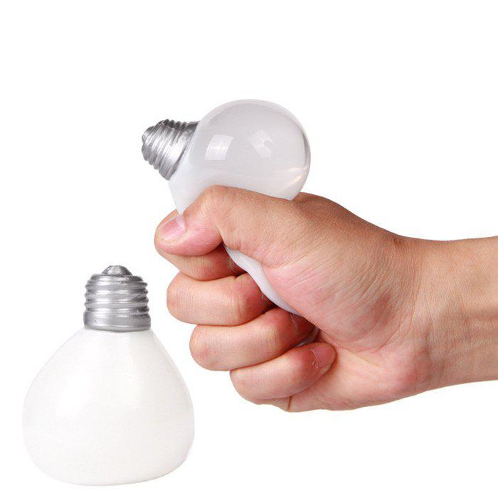 Novelty Elastic Squeeze Bulb Shape Stress Release Vent Relax Toy for KidHOME<br><br>Color: WHITE; Materials: Other; Theme: Other; Features: Creative Toy; Series: Entertainment;