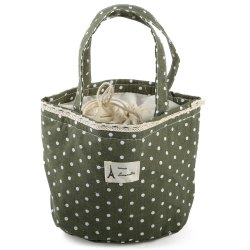 YL125 Warm-keeping Lunch Bag with Draw Cord - GREEN