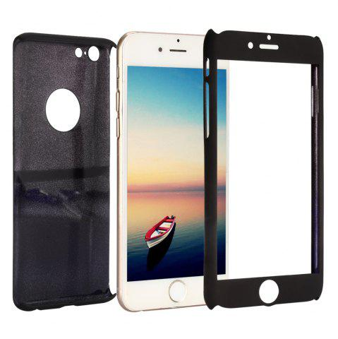 Trendy PC Hard Mobile Full Cover Protective Case with Tempered Glass Screen Film for iPhone 6 / 6S