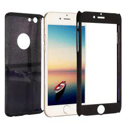 PC Hard Mobile Full Cover Protective Case with Tempered Glass Screen Film for iPhone 6 / 6S -
