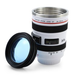 12 - 28 Camera Lens Shape EF 24 - 105mm 1:4 L IS USM Drink Cup Mug - COLORMIX