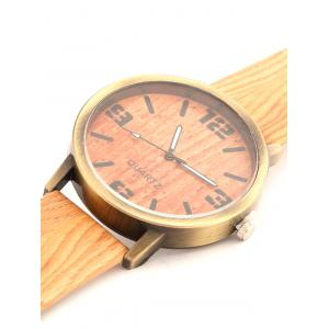 Vintage Wooden Pattern Watch -