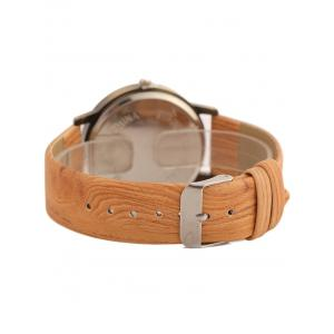Vintage Wooden Pattern Watch - ORANGE