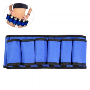 6-pack Portable High Quality Beer Belt Drink Bottle Holder Waist Bag for Outdoor Sports - BLUE