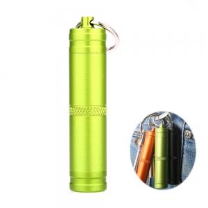 Mini Waterproof Bottle Compact Aluminum Alloy Key Ring Pill Seal Pot for Outdoor Sports