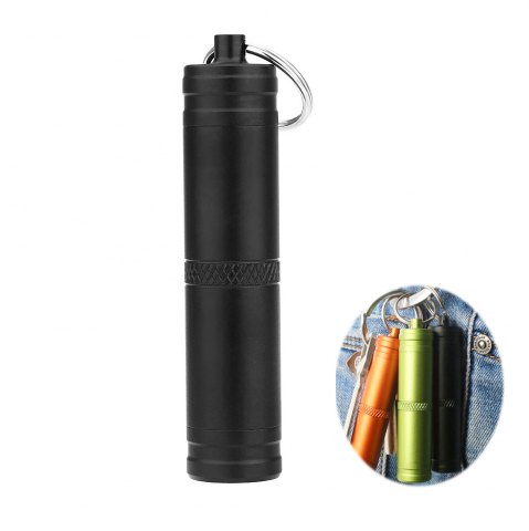 Fashion Mini Waterproof Bottle Compact Aluminum Alloy Key Ring Pill Seal Pot for Outdoor Sports