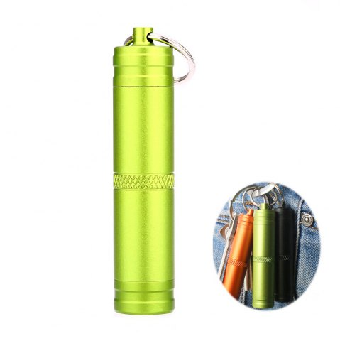Shops Mini Waterproof Bottle Compact Aluminum Alloy Key Ring Pill Seal Pot for Outdoor Sports
