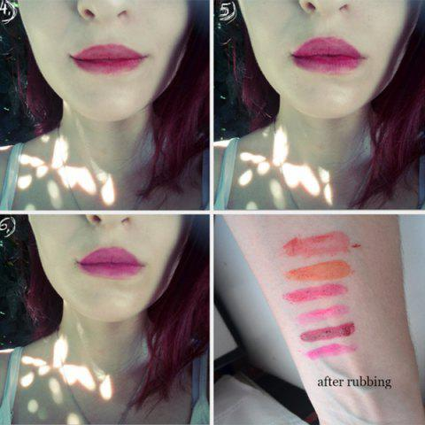 Chic 6pcs Sexy Magic Peel Off Mask Tint Long Lasting Waterproof Lipstick - AS THE PICTURE  Mobile