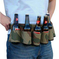 6-pack Portable High Quality Beer Belt Drink Bottle Holder Waist Bag for Outdoor Sports - CAMOUFLAGE