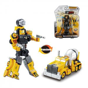 Transform Warrior 3D Robot Car Building Block Puzzle - Colormix - Style 2