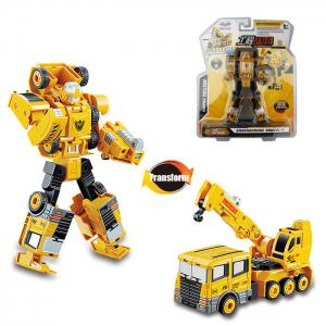 Transform Warrior 3D Robot Car Building Block Puzzle - Colormix - Style 4
