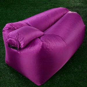 Portable Inflatable Lazy Sofa Beach Chair with Pillow for Outdoor Sports - PURPLE