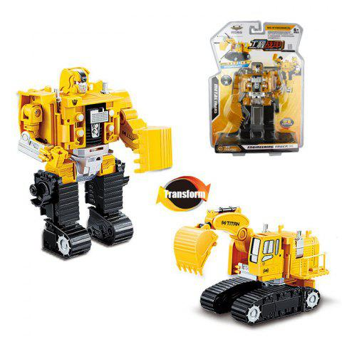 Sale Transform Warrior 3D Robot Car Building Block Puzzle COLORMIX STYLE 5