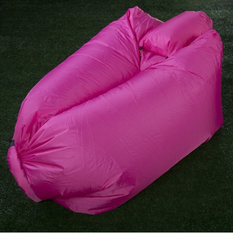 Chic Portable Inflatable Lazy Sofa Beach Chair with Pillow for Outdoor Sports - RED  Mobile