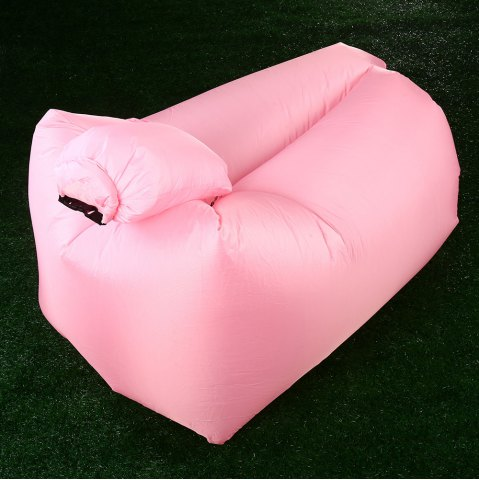 Shop Portable Inflatable Lazy Sofa Beach Chair with Pillow for Outdoor Sports - PINK  Mobile