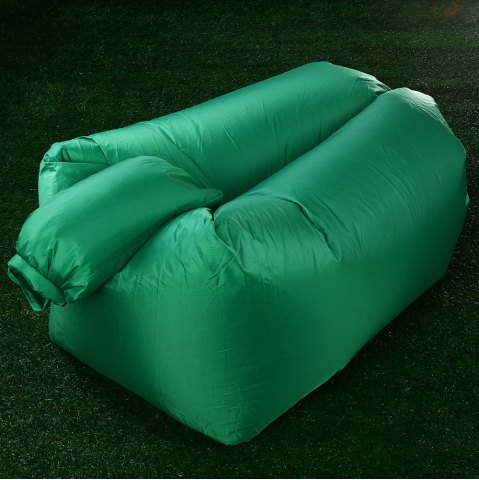 Best Portable Inflatable Lazy Sofa Beach Chair with Pillow for Outdoor Sports - GREEN  Mobile