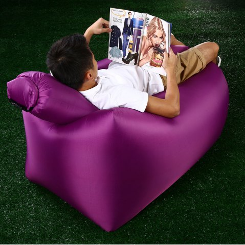 Cheap Portable Inflatable Lazy Sofa Beach Chair with Pillow for Outdoor Sports