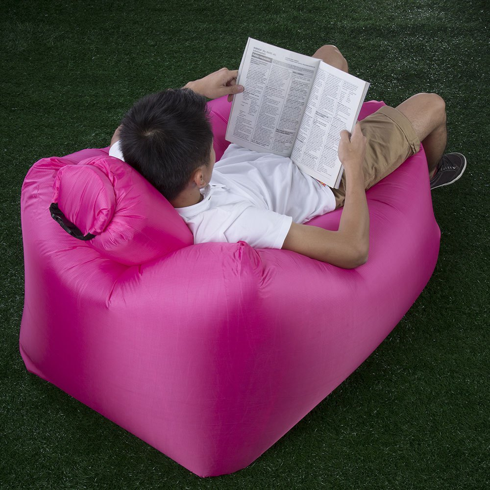 Outfit Portable Inflatable Lazy Sofa Beach Chair with Pillow for Outdoor Sports