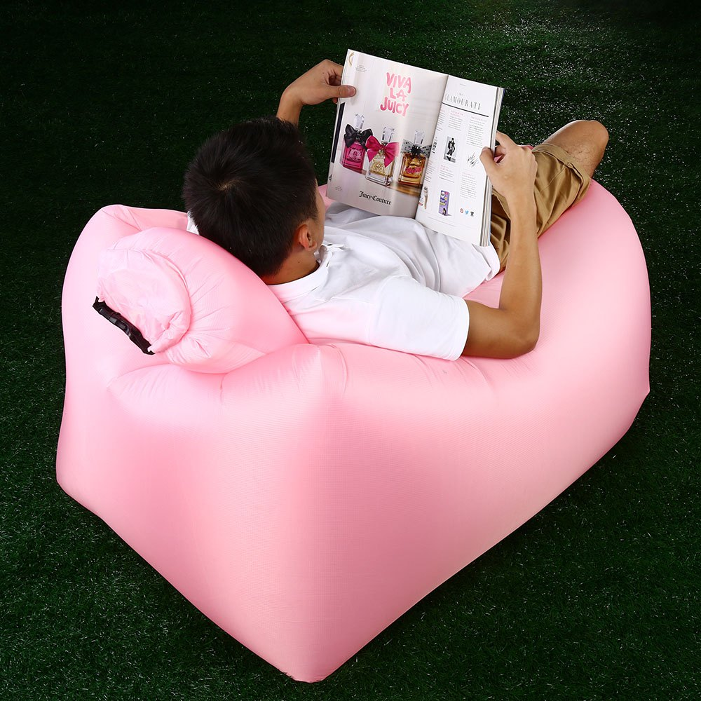Chic Portable Inflatable Lazy Sofa Beach Chair with Pillow for Outdoor Sports